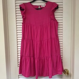 Hot pink* babydoll dress from Vici